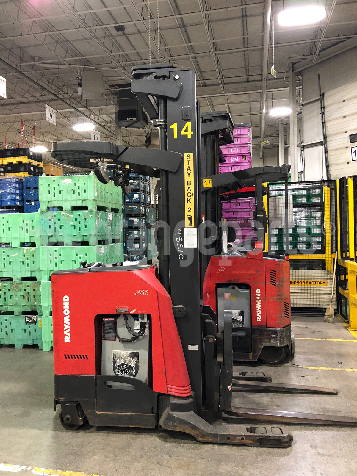 Where do I find my Raymond forklift's serial number?
