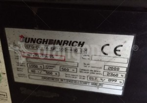 Jungheinrich serial number