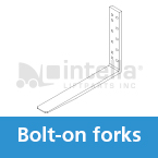 Bolt-on forklift forks intella liftparts