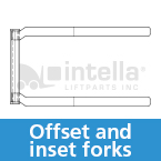 offset and inset forklift forks intella liftparts
