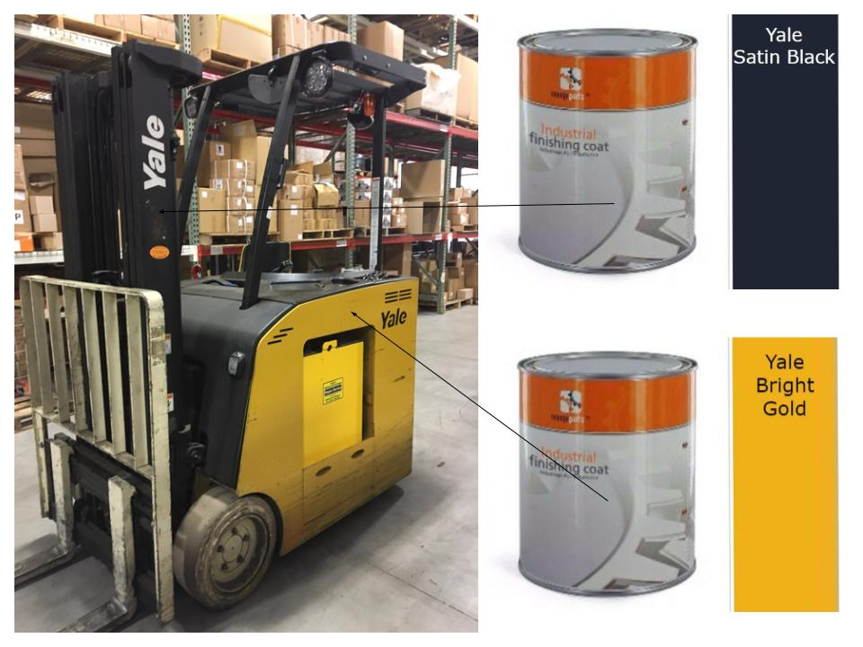 Forklift Paint by the Gallon in All the Colors You Need