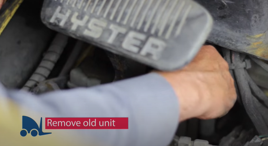 replace a forklift master cylinder