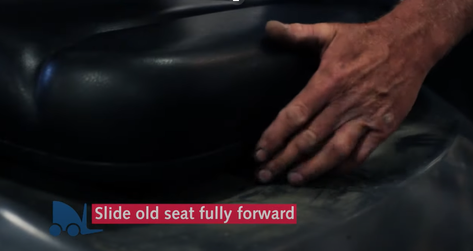 replace a toyota forklift seat