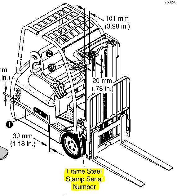 where do i find my crown forklift u0026 39 s serial number
