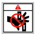 Safety decal warning for pinch points sticker