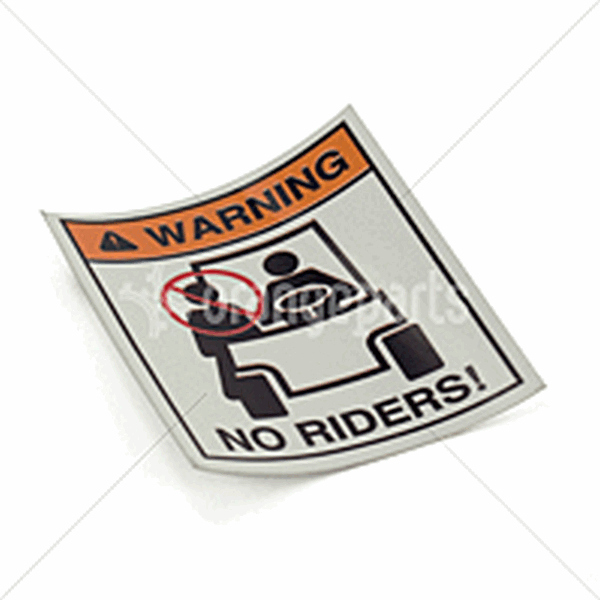 HYSTER 1330920 Forklift no rider decal HYSTER 1330920 sticker