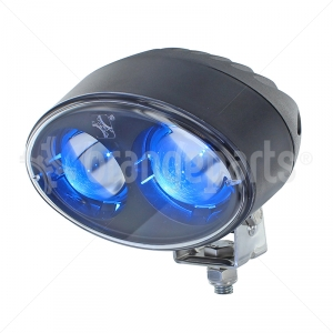 blue forklift light